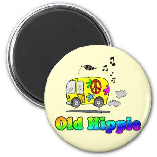 Old Hippie Bus Magnet