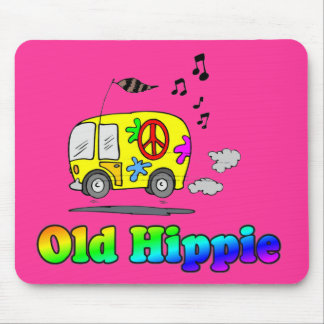 Old Hippie Bus Mouse Mat