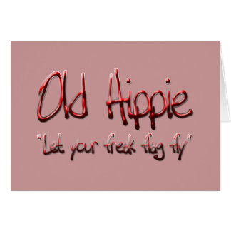 Old Hippie red Greeting Card
