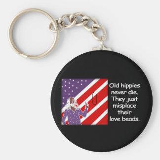 Old Hippies Never Die...  Keychain