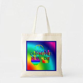 Old Hippies Never Die Tote Bag