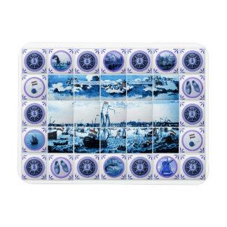 Old Holland Delft Blue Delftware Style Tile Mural Magnet