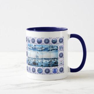Old Holland Delftware Style Tile Mural Mug