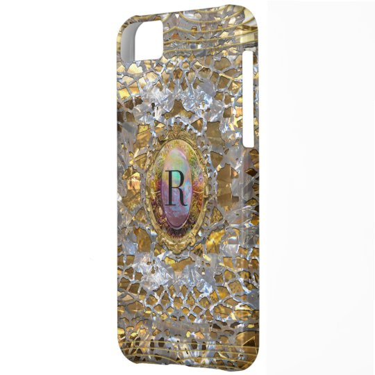 Old Hollywood Chic Elegant Monogram iPhone 5C Case