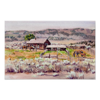 OLD HOMESTEAD by SHARON SHARPE Poster