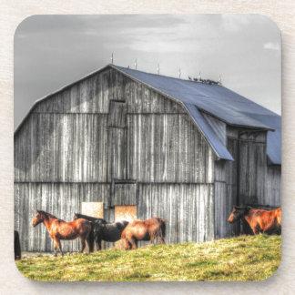 old horse barn beverage coaster