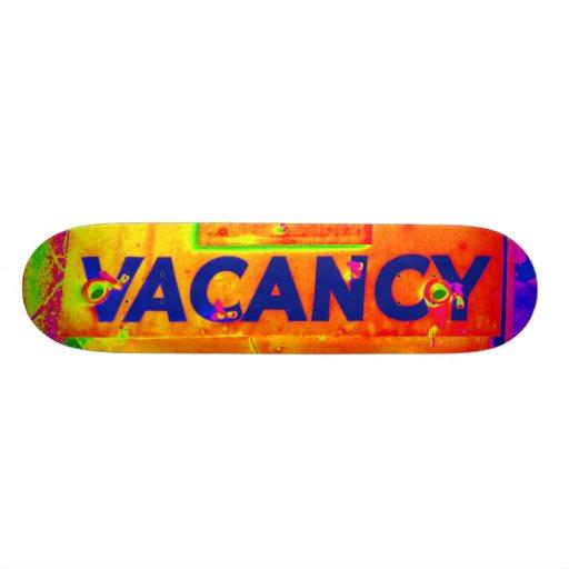 Old Hotel Vacancy Sign Skateboards
