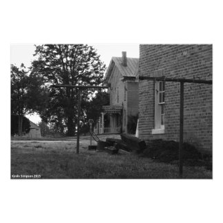 Old House Black and White Photograph