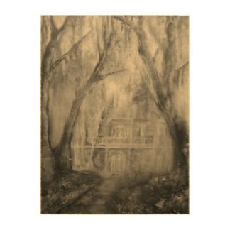 Old House in the Woods wall art panel