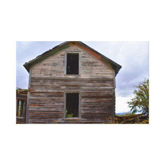 Old house on canvas