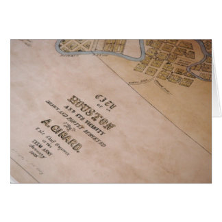 Old Houston Map Card