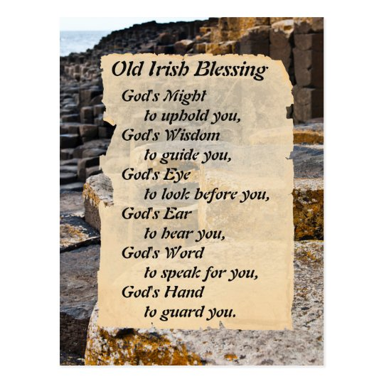 Old Irish Blessing Giants Causeway Postcard