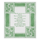 Old Irish Blessing in Celtic Knots Poster