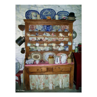 Old Irish Dresser Poster or Print