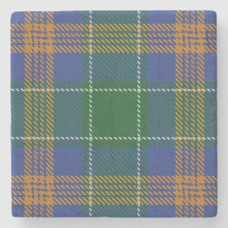 Old Irish Tavern Clan McAuliffe MacAuliffe Tartan Stone Coaster