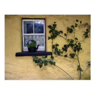 old irish window postcard
