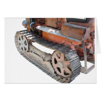 Old italian crawler tractor card