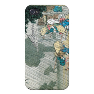 Old Japan in the Rain, circa 1834-42 iPhone 4 Covers