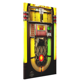 Old Jukebox Stretched Canvas Prints