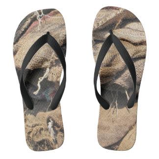 Old Jute Sacking Flip Flops