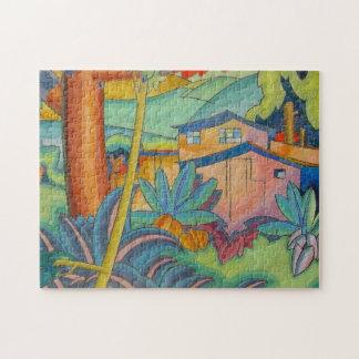 'Old Kahala Home' - Arman Manookian Jigsaw Puzzle
