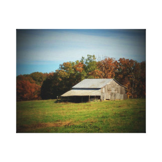 Old Kentucky Barn Stretched Canvas Prints