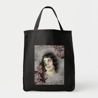 Old Key and Roses Your Photo Grocery Tote Bag
