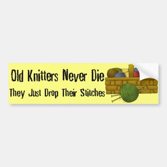 Old Knitters Bumper Sticker