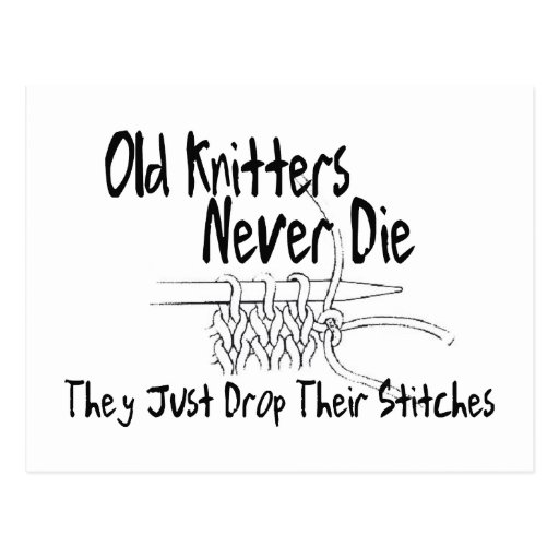 Old Knitters Postcards