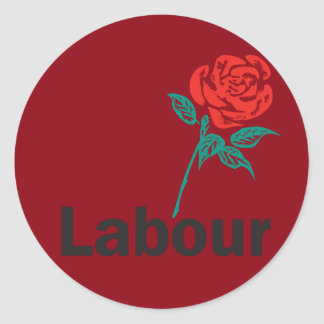 Old Labour Party Logo Classic Round Sticker