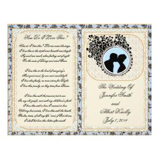 Old Lace Delft Wedding Program Flyer Design
