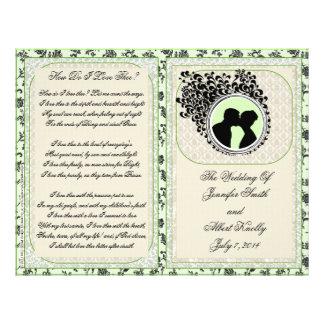 Old Lace Heath Wedding Program Full Color Flyer