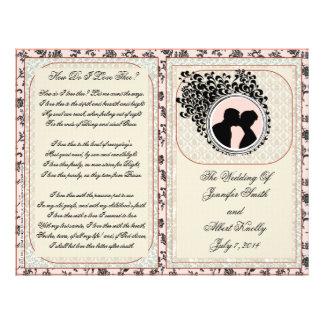 Old Lace Mauve Wedding Program Full Color Flyer