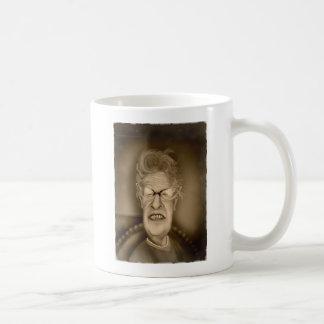 Old Lady OAP Vintage Caricature Retro Basic White Mug