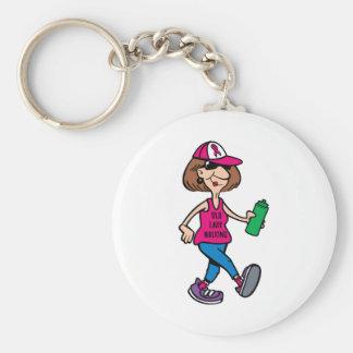 Old Lady Walking Keychain
