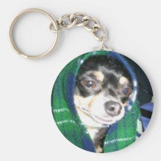 Old Lady Yogi Basic Round Button Key Ring