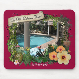 Old Lahaina House Mouse Pad