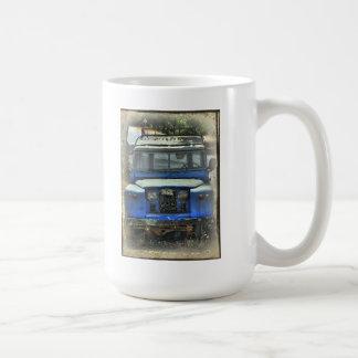 Old Land Rovers never die Basic White Mug