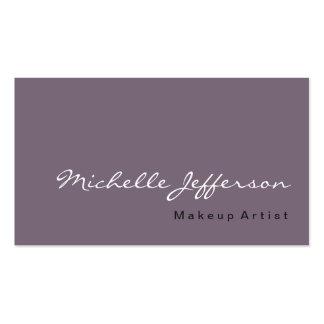 Old Lavender Grayish Violet Business Card