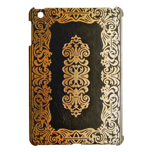 Book Cover Black Uk : Old leather black gold book cover zazzle