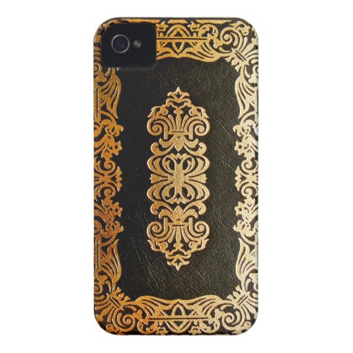 Book Cover Black Uk ~ Old leather black gold book cover iphone zazzle