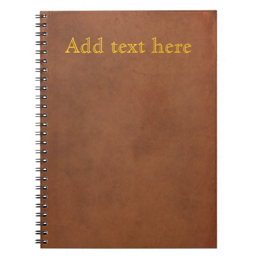 Old Book Cover Fonts ~ Old leather book cover add your own gold text zazzle