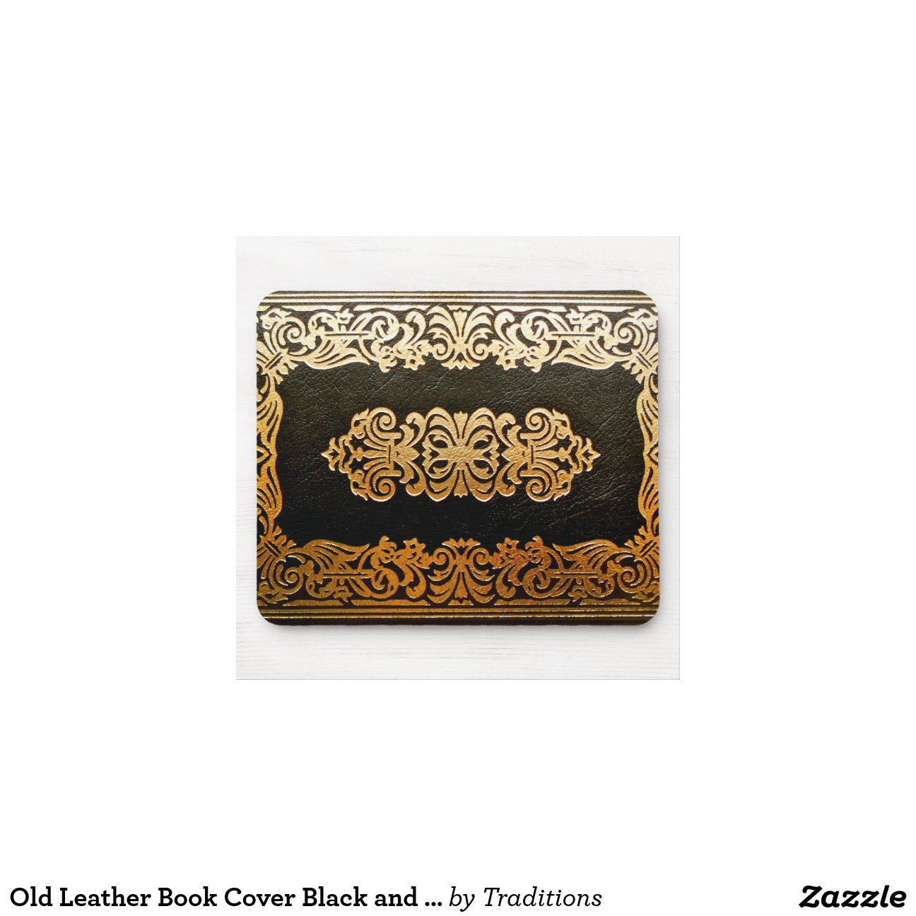 Book Cover Black Uk : Old leather book cover black and gold zazzle