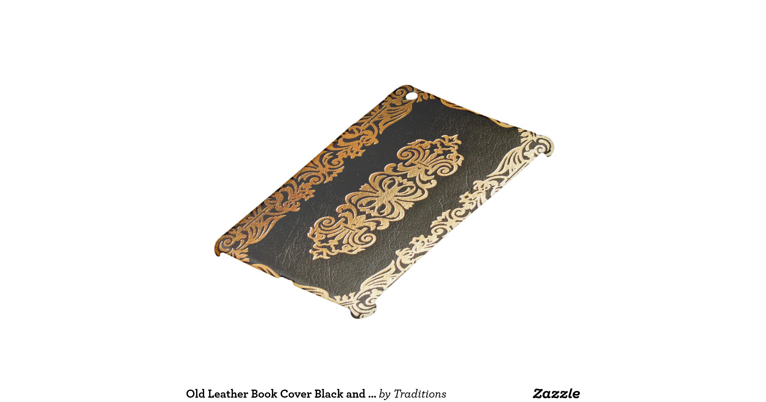 Book Cover Black Uk : Old leather book cover black and gold ipad mini covers