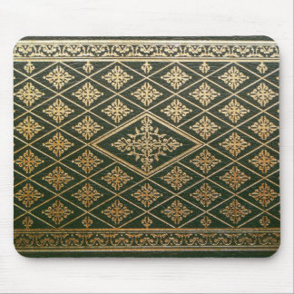 Old Leather Book Cover Green and Gold Mouse Mat