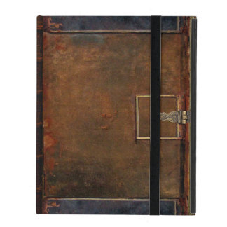 Old Leather Book Cover iPad Cases