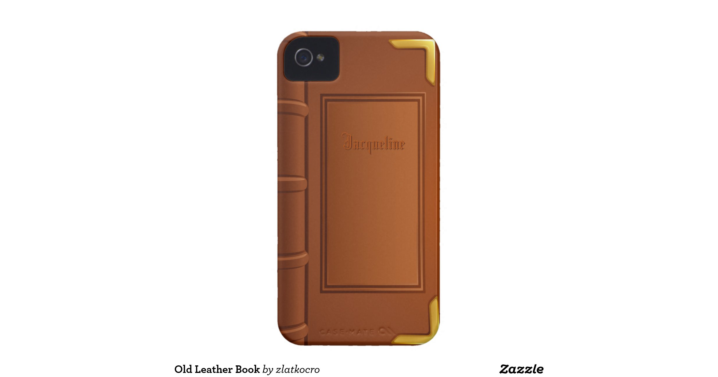 Old Book Cover Iphone : Old leather book iphone covers zazzle