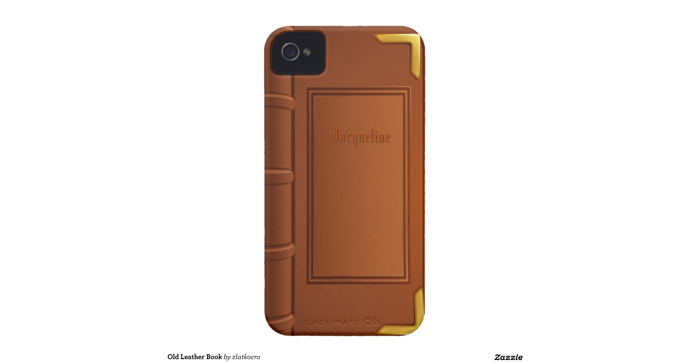 Old Leather Book Iphone Cover : Old leather book iphone covers zazzle