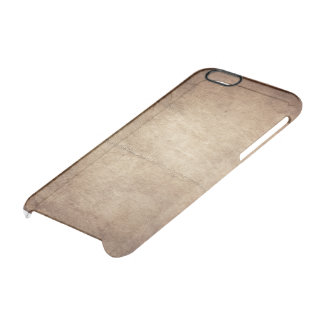 Old leather clear iPhone 6/6S case