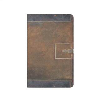 old leather notebook
